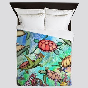 Sea Turtles Queen Duvet